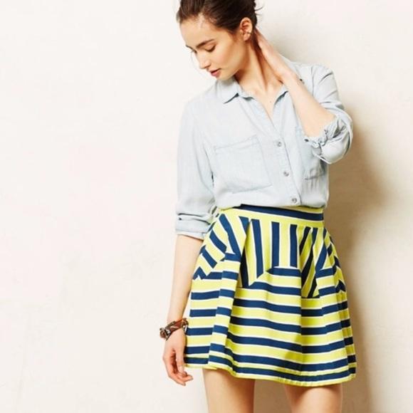 Anthropologie Dresses & Skirts - Anthropologie Dare To Dream Nimbin Stripe Skirt L